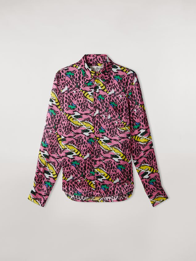 Marni Shirt in viscose satin print Bolero by Bruno Bozzetto Woman - 2
