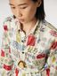 Marni Silk twill shirt Memoria print with chest pocket Woman - 4