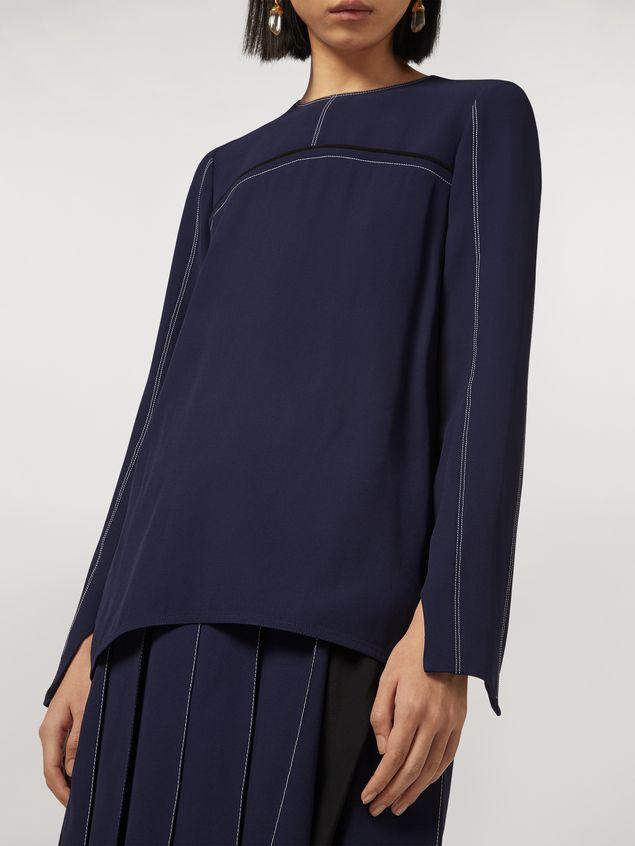 Marni Long envers crepe satin shirt Woman - 4