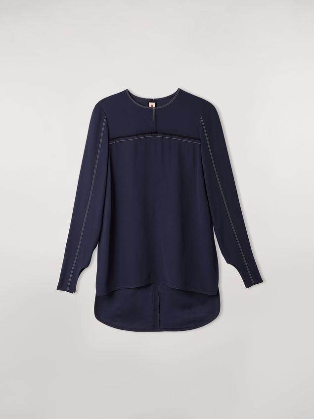 Marni Long envers crepe satin shirt Woman - 2