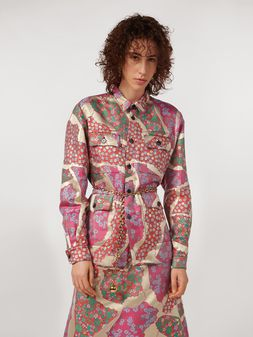 Marni 4-pocket shirt in brocade patchwork Woman