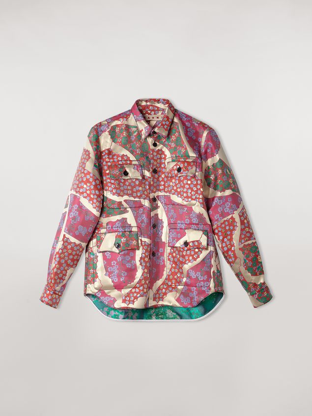 Marni 4-pocket shirt in brocade patchwork Woman - 2