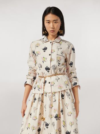 Marni Cotton poplin shirt Booming print Woman