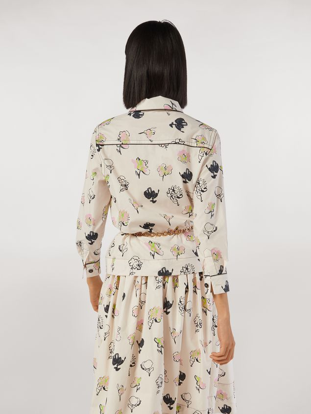 Marni Cotton poplin shirt Booming print Woman