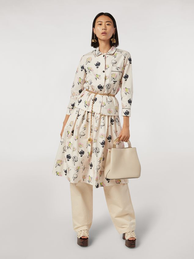 Marni Cotton poplin shirt Booming print Woman - 5