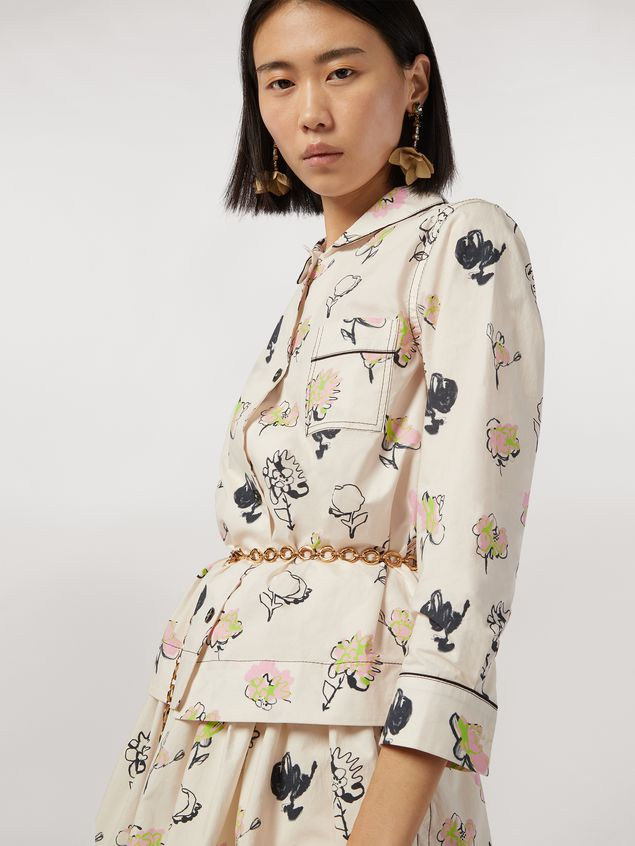 Marni Cotton poplin shirt Booming print Woman - 4