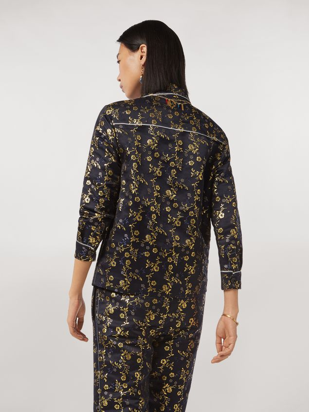 Marni Boxy shirt in floral jacquard Woman