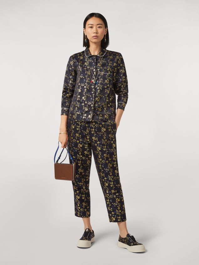 Marni Boxy shirt in floral jacquard Woman - 5