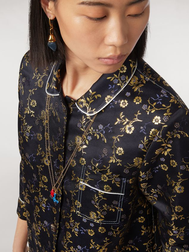 Marni Boxy shirt in floral jacquard Woman - 4