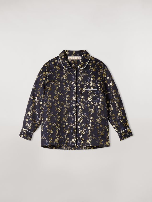 Marni Boxy shirt in floral jacquard Woman - 2