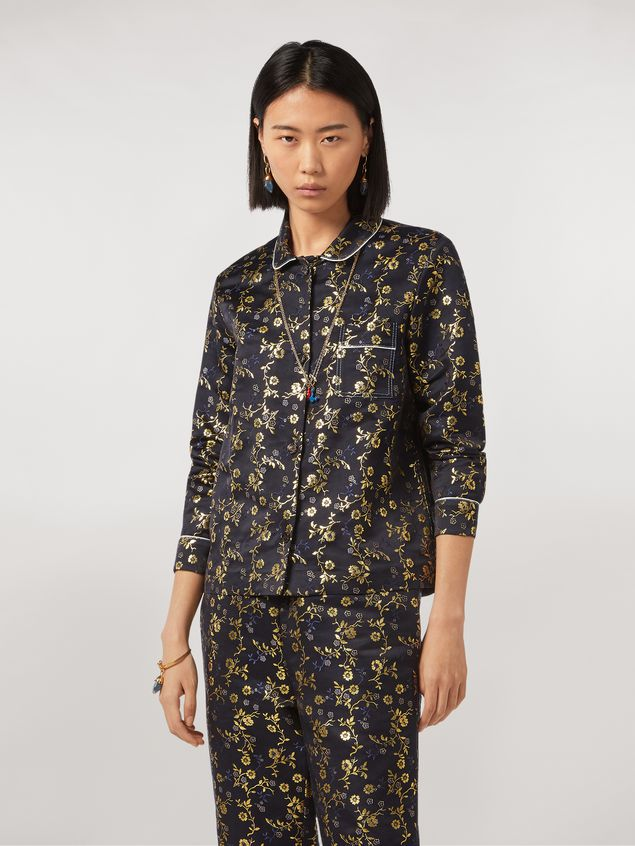Marni Boxy shirt in floral jacquard Woman - 1