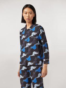 Marni Viscose sablé shirt Prelude print by Bruno Bozzetto Woman