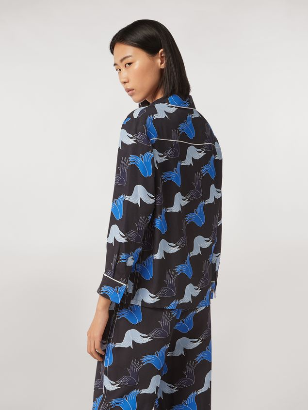 Marni Viscose sablè shirt Prelude print by Bruno Bozzetto Woman