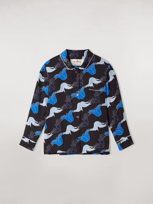 Marni Viscose sablè shirt Prelude print by Bruno Bozzetto Woman - 2
