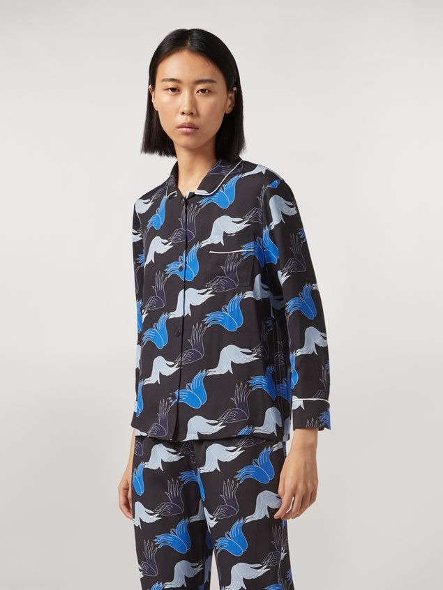Marni Viscose sablé shirt Prelude print by Bruno Bozzetto Woman - 1