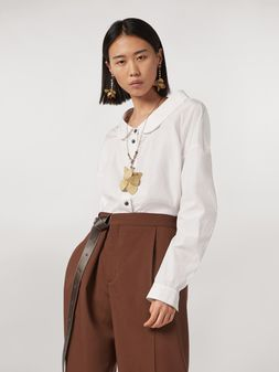 Marni Cotton poplin shirt with rounded collar Woman