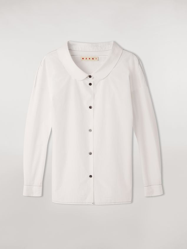 Marni Cotton poplin shirt with rounded collar Woman - 2