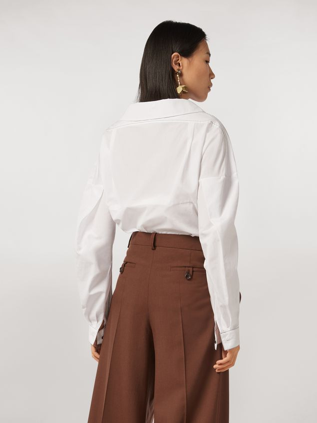 Marni Cotton poplin shirt with rounded collar Woman - 3