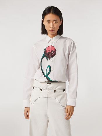 Marni Cotton poplin shirt Bolero print by Bruno Bozzetto Woman