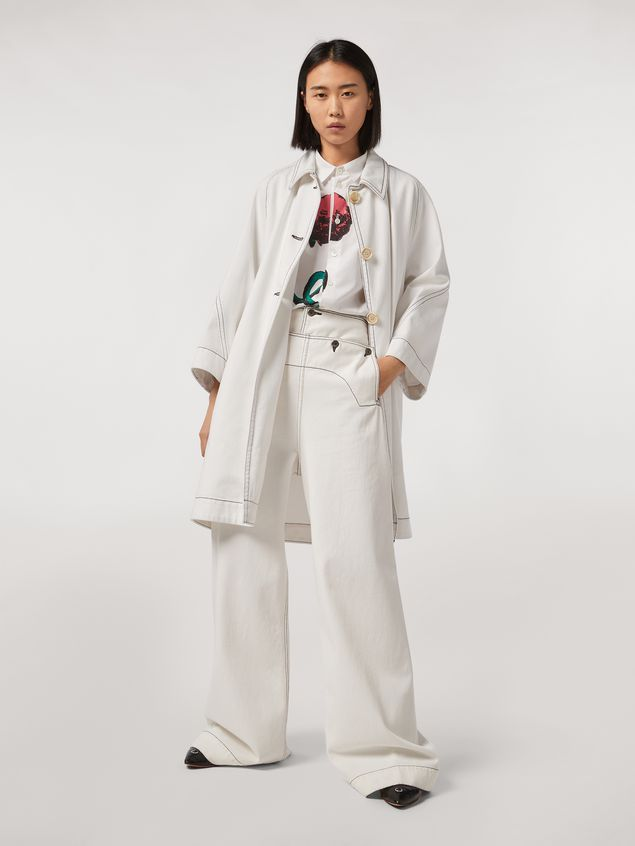 Marni Cotton poplin shirt Bolero print by Bruno Bozzetto Woman - 5