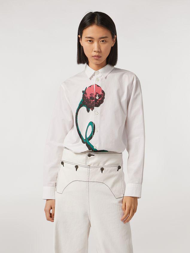 Marni Cotton poplin shirt Bolero print by Bruno Bozzetto Woman - 1