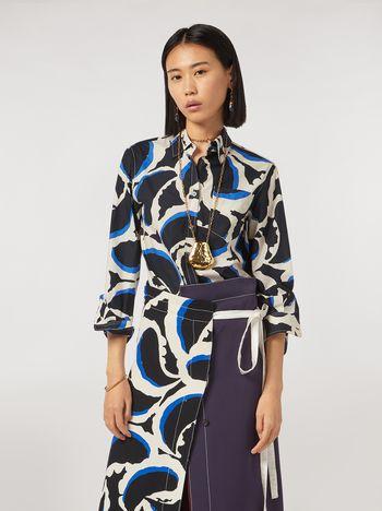 Marni Teardrop print cotton poplin shirt Woman