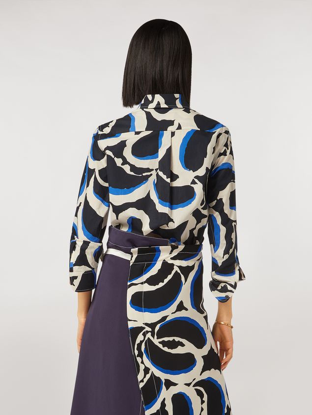 Marni Teardrop print cotton poplin shirt Woman