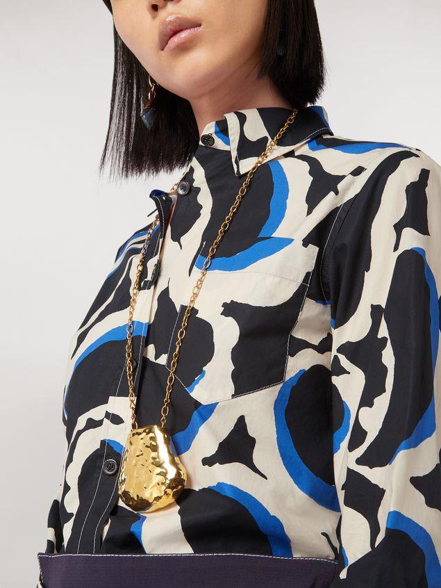 Marni Teardrop print cotton poplin shirt Woman - 4