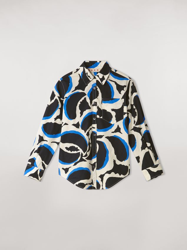 Marni Teardrop print cotton poplin shirt Woman - 2