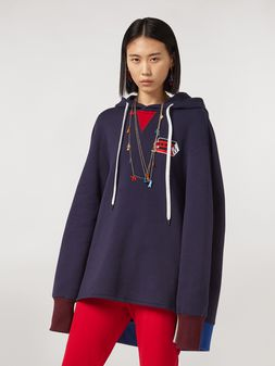 Marni Cotton gauze fleece with hood Woman