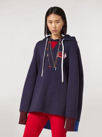 Marni Cotton gauze fleece with hood Woman
