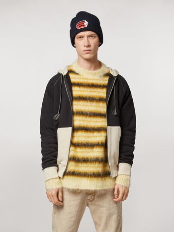 Marni Cotton gauzed sweater with patch by Bruno Bozzetto Man