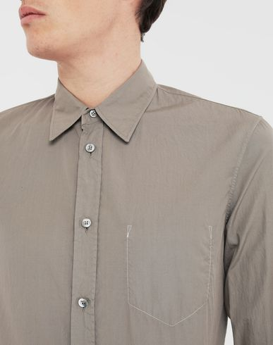 SHIRTS Cotton shirt Dove grey