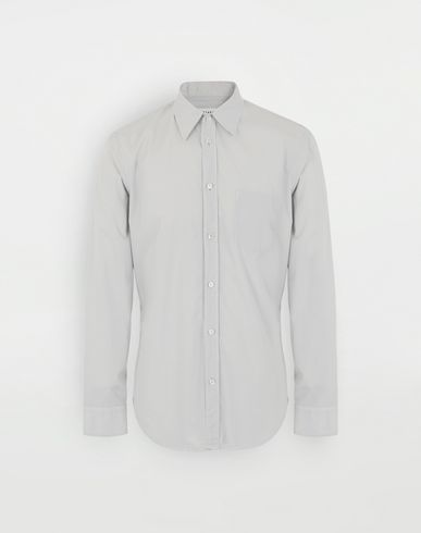 SHIRTS Cotton shirt Light grey
