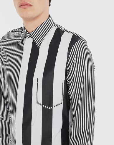 SHIRTS Décortiqué striped shirt Black