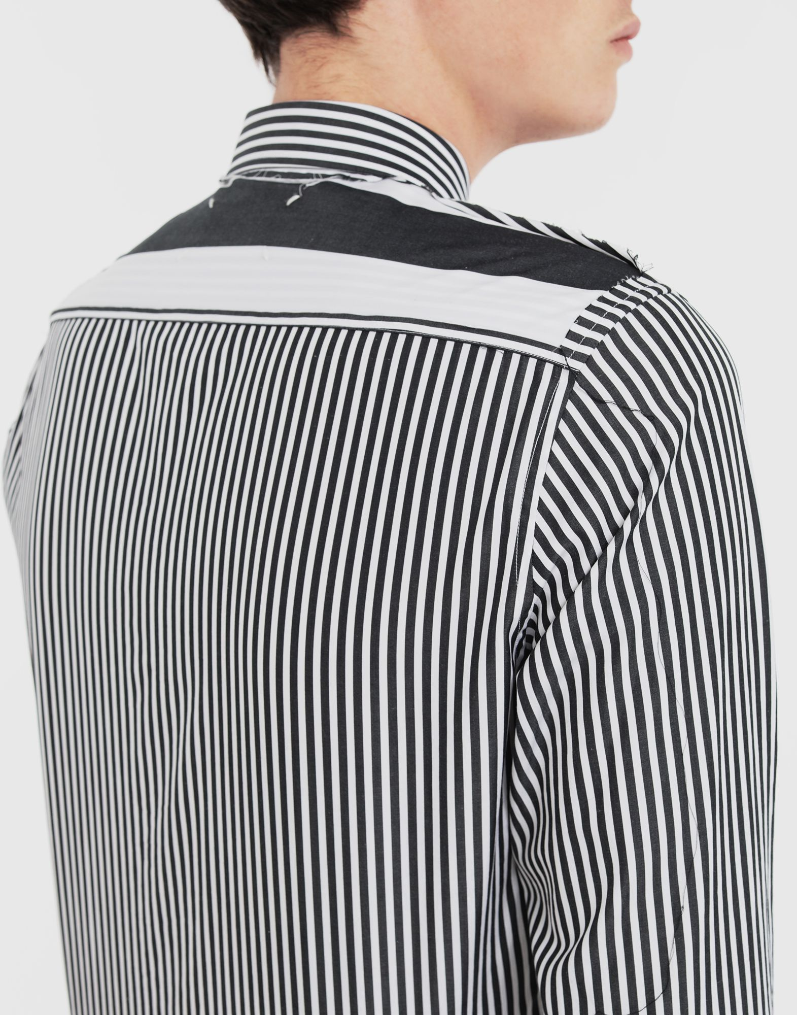 MAISON MARGIELA Décortiqué striped shirt Long sleeve shirt Man b