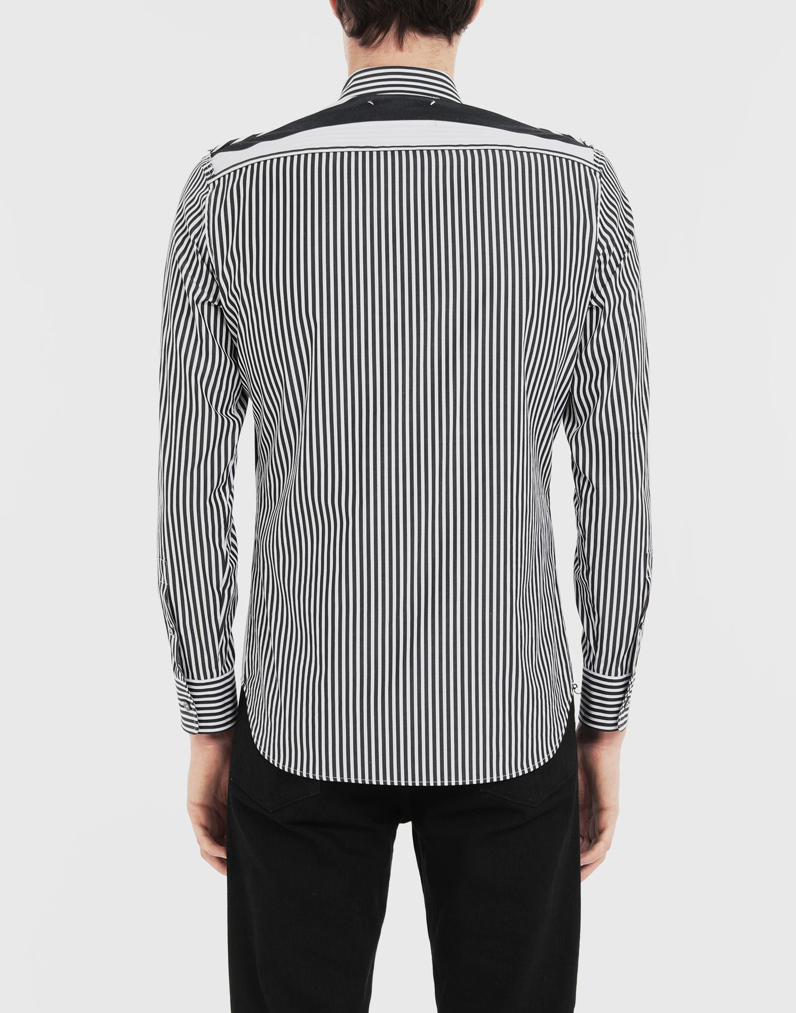 MAISON MARGIELA Décortiqué striped shirt Long sleeve shirt Man e