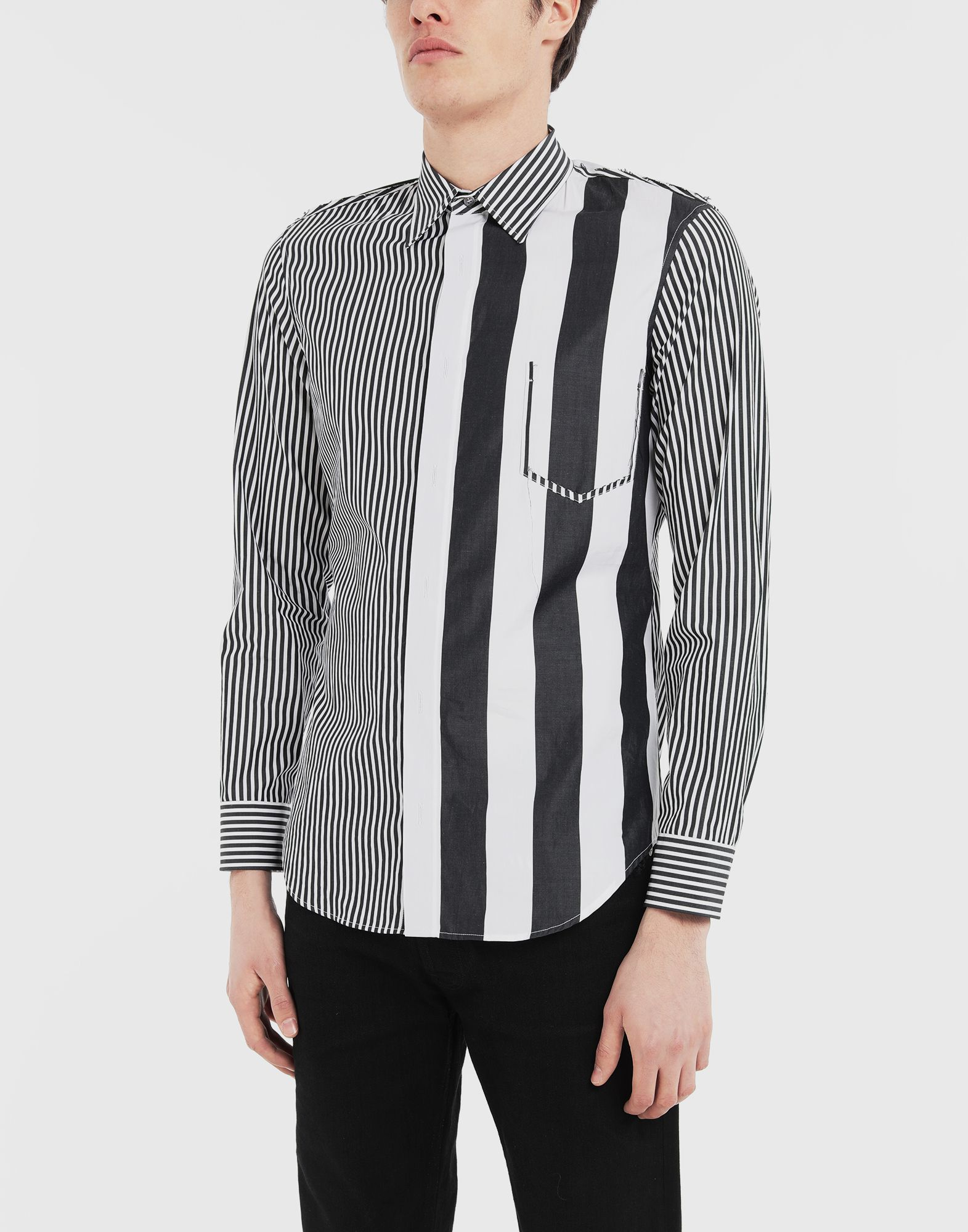 MAISON MARGIELA Décortiqué striped shirt Long sleeve shirt Man r