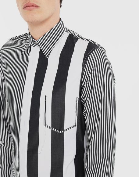 MAISON MARGIELA Décortiqué striped shirt Long sleeve shirt Man a