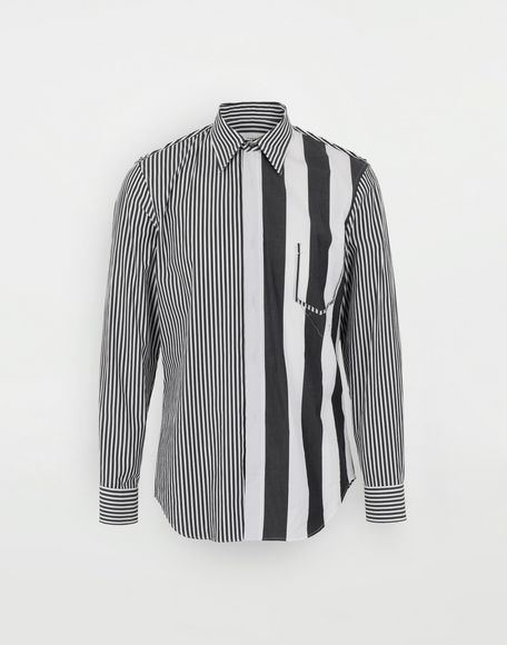 MAISON MARGIELA Décortiqué striped shirt Long sleeve shirt Man f
