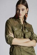 DSQUARED2 Cotton Poplin Wrap Shirt Long sleeve shirt Woman
