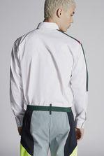 DSQUARED2 Poplin Military Shirt With Nylon Arrow Sport Detail Long sleeve shirt Man