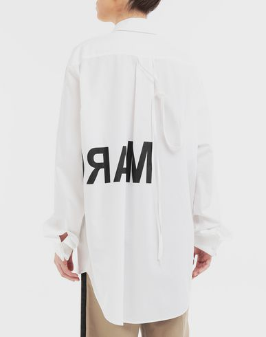 SHIRTS Reversed logo shirt White