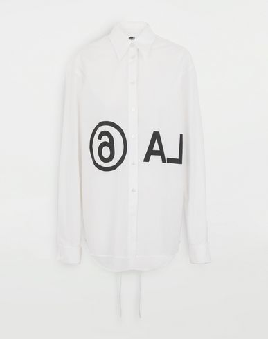 MM6 MAISON MARGIELA Reversed logo shirt Long sleeve shirt Woman f