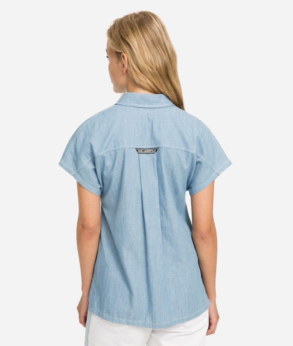 KARL LAGERFELD K/Karlifornia Chambray Shirt Blouse Woman d
