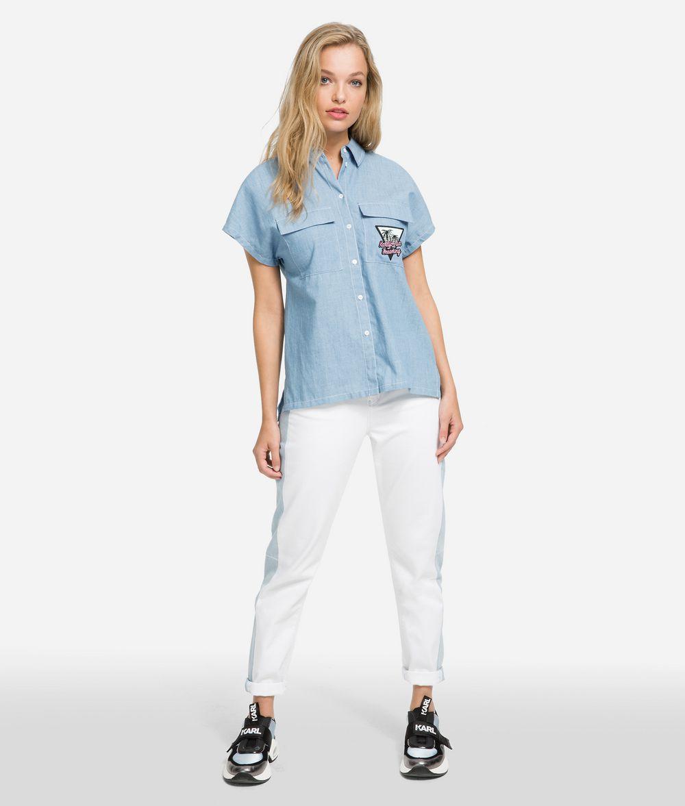KARL LAGERFELD K/Karlifornia Chambray Shirt Blouse Woman f
