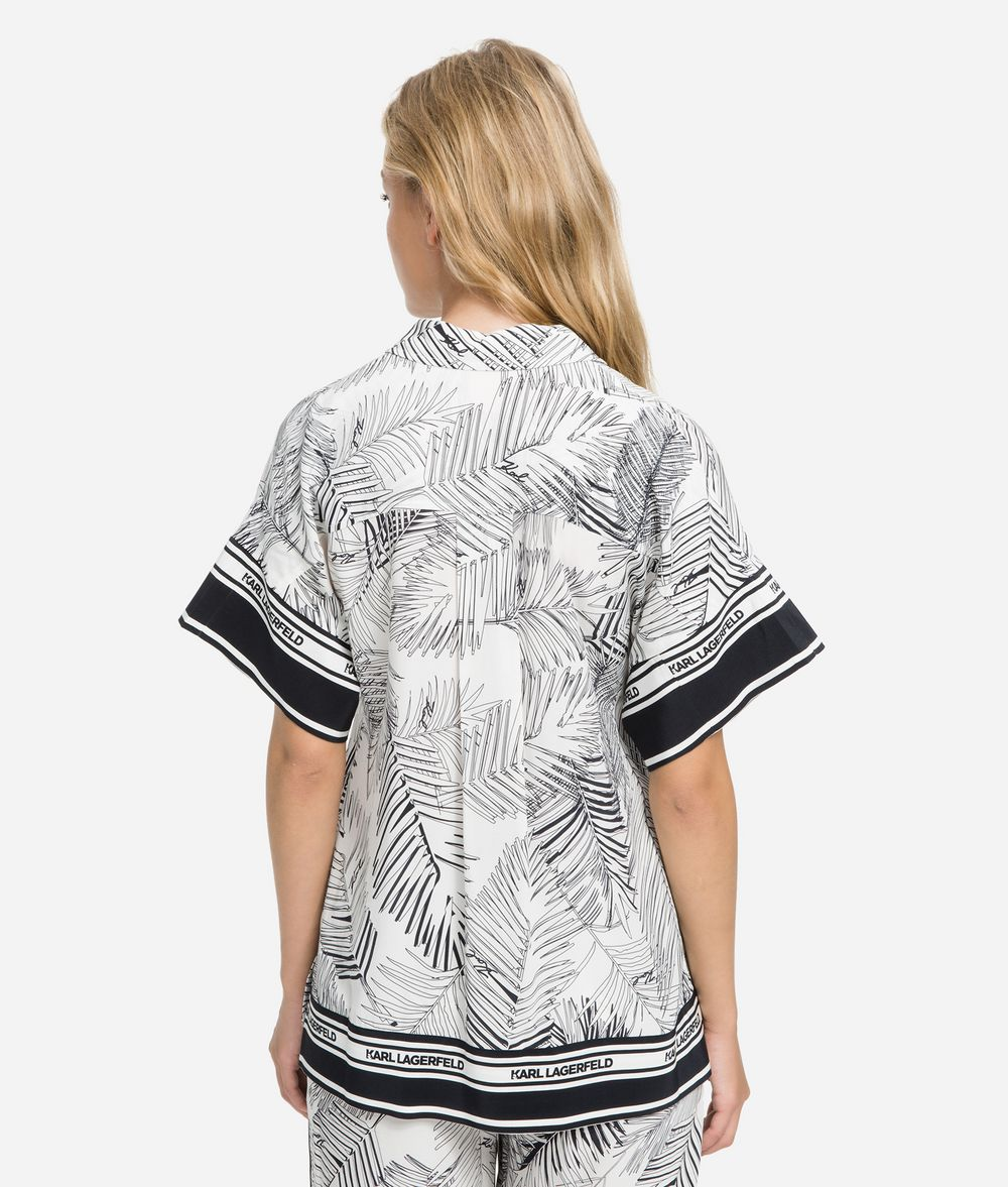 KARL LAGERFELD K/Karlifornia Printed Shirt Blouse Woman d
