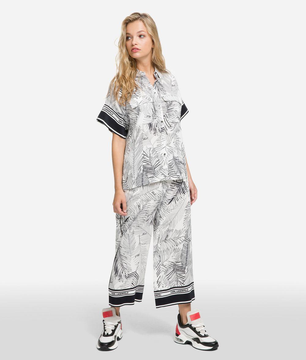 KARL LAGERFELD K/Karlifornia Printed Shirt Blouse Woman f