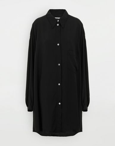 MM6 MAISON MARGIELA Oversized poly shirt Long sleeve shirt Woman f