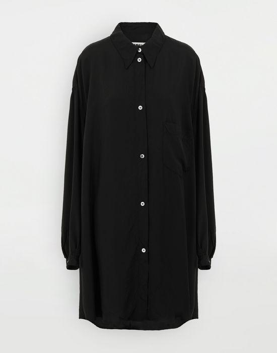 MM6 MAISON MARGIELA Oversized poly shirt Long sleeve shirt [*** pickupInStoreShipping_info ***] f